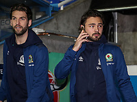 Blackburn Rovers' Charlie Mulgrew and Bradley Dack pictured before the match<br /> <br /> Photographer Andrew Kearns/CameraSport<br /> <br /> The EFL Sky Bet Championship - Reading v Blackburn Rovers - Wednesday 13th February 2019 - Madejski Stadium - Reading<br /> <br /> World Copyright © 2019 CameraSport. All rights reserved. 43 Linden Ave. Countesthorpe. Leicester. England. LE8 5PG - Tel: +44 (0) 116 277 4147 - admin@camerasport.com - www.camerasport.com