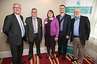 Pictured from left is Mark Minton of The Wilson Organisation, Andrew Davies of Thompson and Richardson, Pamela Wright of Bank of England, Jake Matthews of Just Vehicle Solution and Steve Potts of Anante