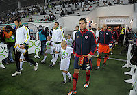 Carlos Bocanegra of team USA, before the friendly match Slovenia against USA at the Stozice Stadium in Ljubljana, Slovenia on November 15th, 2011.