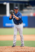 Lakeland Flying Tigers relief pitcher Spenser Watkins (31) gets ready to deliver a pitch during a game against the Tampa Tarpons on April 8, 2018 at George M. Steinbrenner Field in Tampa, Florida.  Lakeland defeated Tampa 3-1.  (Mike Janes/Four Seam Images)