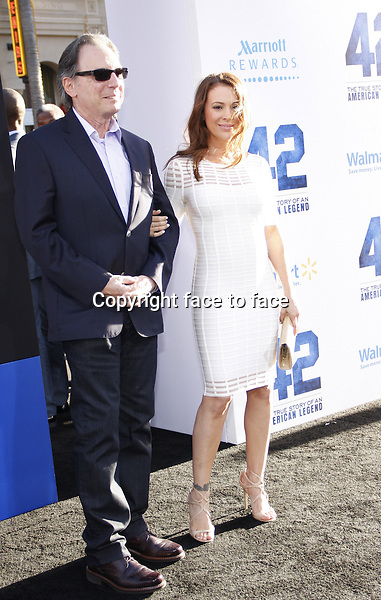 "Alyssa Milano and her father, Thomas M. Milano attending the ""42"" Los Angeles Premiere at the TCL Chinese Theater on April 9, 2013 in Hollywood, California. ..Credit: PopularImages/face to face"
