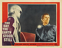 The Day the Earth Stood Still (1951) <br /> Lobby card with Michael Rennie<br /> *Filmstill - Editorial Use Only*<br /> CAP/KFS<br /> Image supplied by Capital Pictures