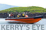 The newly revamped Derrynane Inshore Rescue Rib in action in Derrynane on Sunday.