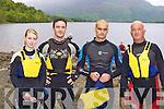 Tara Coffey, Brendan Connelly, David Buckley and Roger Harty Killarney at the Dundag Masters 5km swim in Muckross Lake Killarney on Sunday