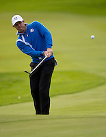 26.09.2014. Gleneagles, Auchterarder, Perthshire, Scotland.  The Ryder Cup.  Rory McIlroy (EUR) in action during the Friday Fourballs.