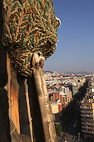 Tree of Life, Nativity façade, La Sagrada Familia, Roman Catholic basilica, Barcelona, Catalonia, Spain, built by Antoni Gaudí (Reus 1852 ? Barcelona 1926) from 1883 to his death. Still incomplete. Picture by Manuel Cohen