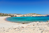 Kalotaritissa beach of Amorgos island in Cyclades, Greece