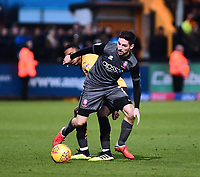 Lincoln City's Tom Pett battles with  Cambridge United's Jevani Brown<br /> <br /> Photographer Andrew Vaughan/CameraSport<br /> <br /> The EFL Sky Bet League Two - Cambridge United v Lincoln City - Saturday 29th December 2018  - Abbey Stadium - Cambridge<br /> <br /> World Copyright © 2018 CameraSport. All rights reserved. 43 Linden Ave. Countesthorpe. Leicester. England. LE8 5PG - Tel: +44 (0) 116 277 4147 - admin@camerasport.com - www.camerasport.com