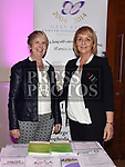 Aileen Emery and Eileen McEnteggart from The Gary Kelly Cancer Support Centre at the Living With Cancer conference in City North hotel. Photo:Colin Bell/pressphotos.ie