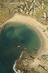 Israel, Carmel, Kibbutz Nahsholim by the sea, an aerial view
