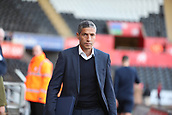 4th November 2017, Liberty Stadium, Swansea, Wales; EPL Premier League football, Swansea City versus Brighton and Hove Albion; Chris Hughton, Manager of Brighton arrives at the Liberty Stadium ahead of the game