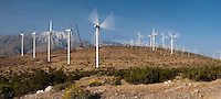 Palm Springs, CA,  San Gorgonio Pass, Whitewater, Wind Farm,  Spinning Turbines, clean, energy,