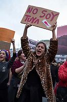 MADRID, SPAIN -  MARCH 8: Thousands of protesters take the streets during the International Women's Day demonstration on 8 March, 2020 in Madrid, Spain  (Photo by Sergio Belena / VIEWpress).