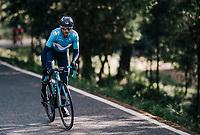 Alejandro Valverde (ESP/Movistar) attacking<br /> <br /> Trofeo Lloseta - Andratx: 140km<br /> 27th Challenge Ciclista Mallorca