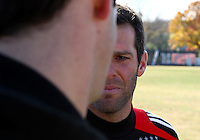 WASHINGTON, DC - NOVEMBER 14, 2012: Ben Olsen of DC United during a practice session before the second leg of the Eastern Conference Championship at DC United practice field, in Washington, DC on November 14.