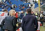 15.02.2020, PreZero-Arena, Sinsheim, GER, 1.FBL, TSG 1899 Hoffenheim vs VfL Wolfsburg , <br />DFL  regulations prohibit any use of photographs as image sequences and/or quasi-video.<br />im Bild<br />Trainer Alfred Schreuder (Hoffenheim), Trainer Oliver Glasner (Wolfsburg)<br /> <br /> Foto © nordphoto / Bratic