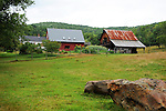 Peaceful farmstead in rural Vermont USA