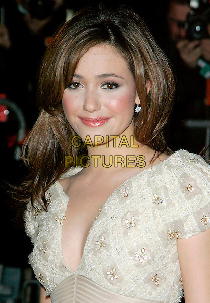 """EMMY ROSSUM.At Fashion Group International 23rd Annual Night of Stars Honoring """"The Visionaries"""" at Cipriani 42nd, New York, New York, USA..October 26th, 2006.Ref: ADM/JL.headshot portrait.www.capitalpictures.com.sales@capitalpictures.com.©Jackson Lee/AdMedia/Capital Pictures."""