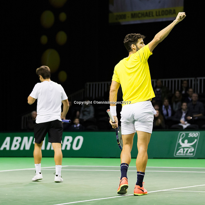 ABN AMRO World Tennis Tournament, Rotterdam, The Netherlands, 14 februari, 2017, Feliciano Lopez (ESP), Marc Lopez (ESP)<br /> Photo: Henk Koster