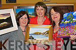 ARTISTS: Inspiring Killarney artists who exhibited in Killarney Community College on Thursday night were l-r: Mairead Kelly, Joan Moriarty and Vivian O'Shea.   Copyright Kerry's Eye 2008