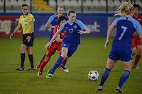20190304 - LARNACA , CYPRUS : Finnish forward Sanni Franssi pictured during a women's soccer game between Finland and Korea DPR , on Monday 4 March 2019 at the Antonis Papadopoulos Stadium in Larnaca , Cyprus . This is the third game in group A for Both teams during the Cyprus Womens Cup 2019 , a prestigious women soccer tournament as a preparation on the Uefa Women's Euro 2021 qualification duels. PHOTO SPORTPIX.BE | STIJN AUDOOREN