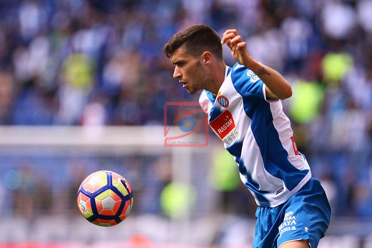 League Santander 2016/2017. Game: 37.<br /> RCD Espanyol vs Valencia CF: 0-1.<br /> Aaron Martin.