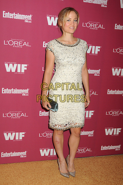 Erika Christensen.2011 Entertainment Weekly Women In Film Pre-Emmy Party held at BOA Steakhouse, West Hollywood, California, USA..September 16th, 2011.full length dress clutch bag silver white beads beaded .CAP/ADM/BP.©Byron Purvis/AdMedia/Capital Pictures.