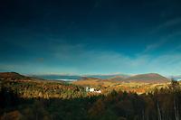 Blair Castle and Beinn a Ghlo near Blair Athol, Perthshire