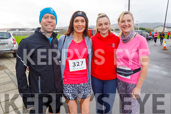 At the Charlie Kerins 10k in Kerins O'Rahilly's on Sunday morning<br /> L to r:  Alan Mulgrew (Tralee), Sinead Healy (Ballymac), Emer and Ellen Lynch (Ballymac).