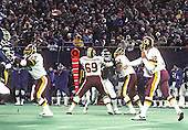 Washington Redskins quarterback Jay Schroeder (10) trows a pass during the NFC Championship Game against the New York Giants in Giants Stadium in East Rutherford, New Jersey on Sunday, January 11, 1987.  The Giants won the game, and a berth in Super Bowl XXI, 17 - 0.<br /> Credit: Howard L. Sachs / CNP