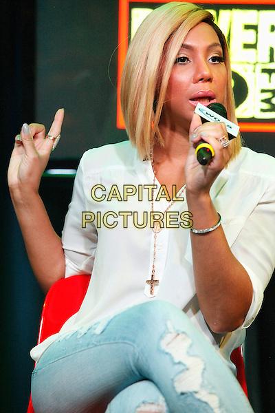 BALA CYNWYD, PA - JULY 28:  Tamar Braxton visits WDAS performance studio in Bala Cynwyd, Pa on July 28, 2015  <br /> CAP/MPI/SS<br /> &copy;SS/MPI/Capital Pictures