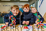 Donnagh and Sean O'Connell and Philip Huggard from Abbeydorney enjoying their DNA Structures display at the Kerry Science Festival in the IT Tralee on Saturday..