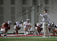 Ohio State Buckeyes head coach Urban Meyer leads his team's first practice of spring football at the Woody Hayes Athletic Center on March 10, 2015. (Adam Cairns / The Columbus Dispatch)