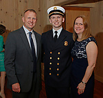 Middlebury, CT-051819MK20 (from Left) Ron, Nick and Kelly Pelletier gathered for a fundraiser to benefit the Middlebury Emergency Fund and the fire department at the Vyne Restaurant in Middlebury Saturday evening. Michael Kabelka / Republican-American