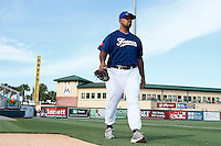 20 September 2012: Keino Perez arrives on the field prior to Spain 8-0 win over France, at the 2012 World Baseball Classic Qualifier round, in Jupiter, Florida, USA.