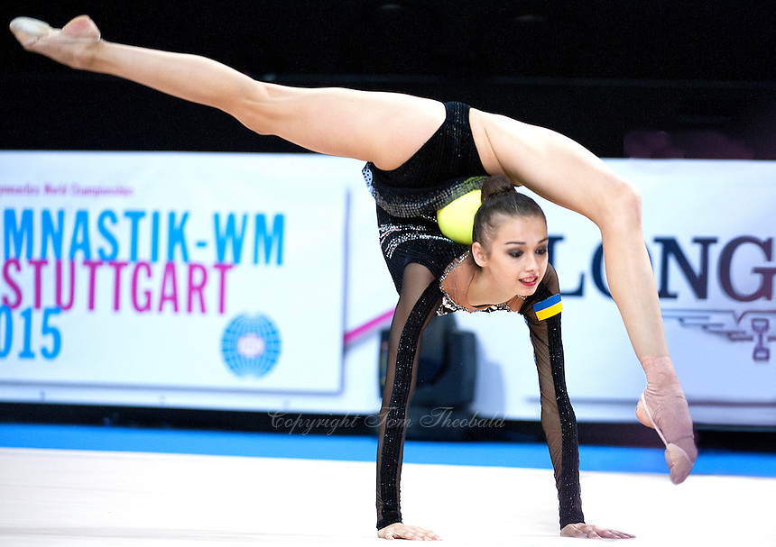 September 8, 2015 - Stuttgart, Germany - ELEONORA ROMANIA of Ukraine performs during AA qualifications at 2015 World Championships.
