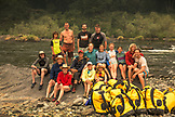 USA, Oregon, Wild and Scenic Rogue River in the Medford District, family portrait at the Horseshoe Bend campground