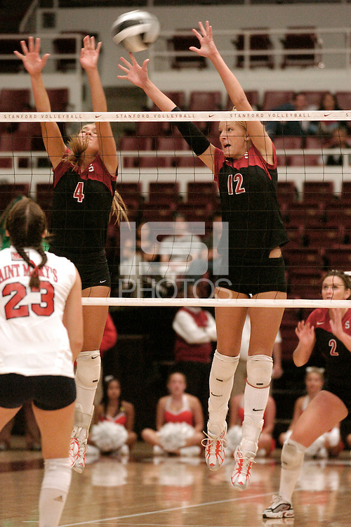 15 Sep 2005: Erin Waller during Stanford's 3-0 win over St. Marys' at Maples Pavilion in Stanford, CA.