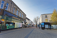 Pictured: The deserted New Street in Neath city centre, Wales, UK. Friday 27 March 2020<br /> Re: Covid-19 Coronavirus pandemic, UK.
