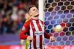 Atletico de Madrid's player Kevin Gameiro and Unai Bustinza during a match of La Liga at Santiago Bernabeu Stadium in Madrid. November 06, Spain. 2016. (ALTERPHOTOS/BorjaB.Hojas)