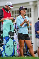 Danielle Kang (USA) looks over her tee shot on 16 during Friday's second round of the 72nd U.S. Women's Open Championship, at Trump National Golf Club, Bedminster, New Jersey. 7/14/2017.<br /> Picture: Golffile | Ken Murray<br /> <br /> <br /> All photo usage must carry mandatory copyright credit (&copy; Golffile | Ken Murray)