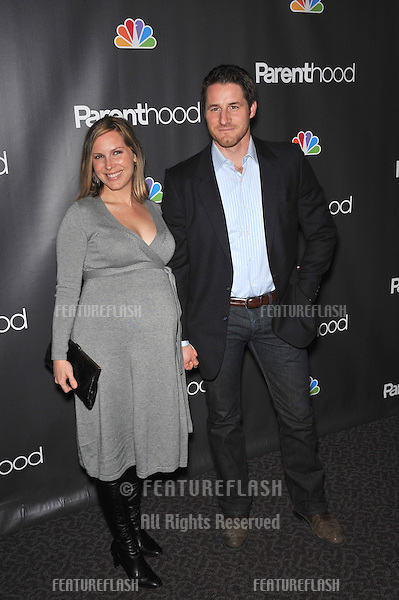 """Sam Jaeger & wife at the premiere for his new NBC TV series """"Parenthood"""" at the Directors Guild of America..February 22, 2010  Los Angeles, CA.Picture: Paul Smith / Featureflash"""