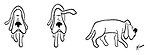 (A dog signals a left-turn with its floppy ears)