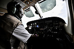 Gaston Ntambo, a United Methodist missionary, pilots a Cessna P210 from Lubumbashi to Luena in the south of the Democratic Republic of the Congo. Ntambo and the plane are part of the Wings of the Morning aviation ministry of The United Methodist Church, and provide life-saving access to isolated rural communities.