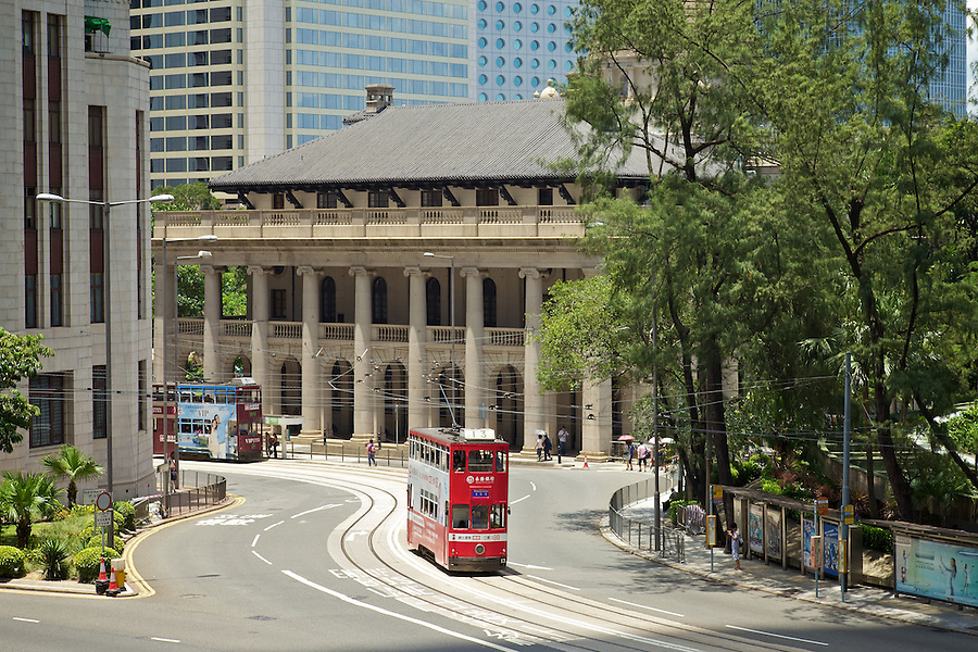 Trams And The Former Supreme Court, Central.