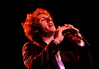 Montreal (Qc) CANADA - File Photo - Circa 1986.<br /> David + David in concert.<br /> <br /> -Photo (c)  Images Distribution