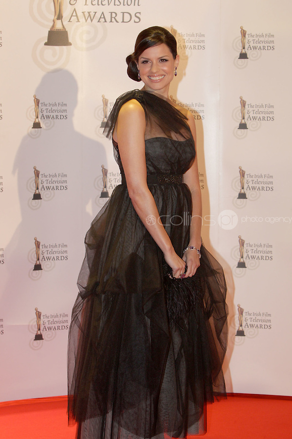 12/2/11 Caroline Morohan on the red carpet at the 8th Irish Film and Television Awards at the Convention centre in Dublin. Picture:Arthur Carron/Collins