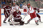 William Lagesson (UMass - 37), Jakob Forsbacka Karlsson (BU - 23), Ryan Wischow (UMass - 1), Jordan Greenway (BU - 18) - The Boston University Terriers defeated the University of Massachusetts Minutemen 3-1 on Friday, February 3, 2017, at Agganis Arena in Boston, Massachusetts.The Boston University Terriers defeated the visiting University of Massachusetts Amherst Minutemen 3-1 on Friday, February 3, 2017, at Agganis Arena in Boston, MA.
