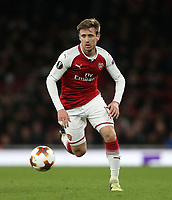Arsenal's Nacho Monreal<br /> <br /> Photographer Rob Newell/CameraSport<br /> <br /> UEFA Europa League Quarter-Final First Leg - Arsenal v CSKA Moscow - Thursday 5th April 2018 - The Emirates - London<br />  <br /> World Copyright &copy; 2018 CameraSport. All rights reserved. 43 Linden Ave. Countesthorpe. Leicester. England. LE8 5PG - Tel: +44 (0) 116 277 4147 - admin@camerasport.com - www.camerasport.com