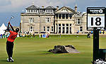 15TH JULY 2010, OPEN GOLF CHAMPIONSHIP, FIRST ROUND AT ST ANDREWS, VIEW OF THE CLUBHOUSE FROM THE 18TH TEE, ROB CASEY PHOTOGRAPHY.